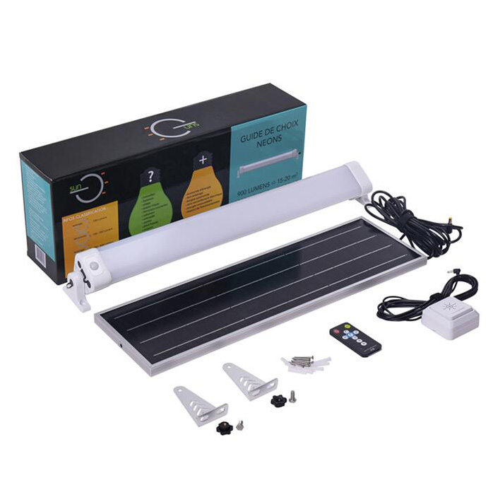 emergency solar led batten light kit with usb charge