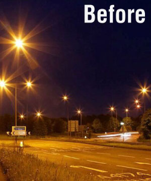 retrofit of traditional street light